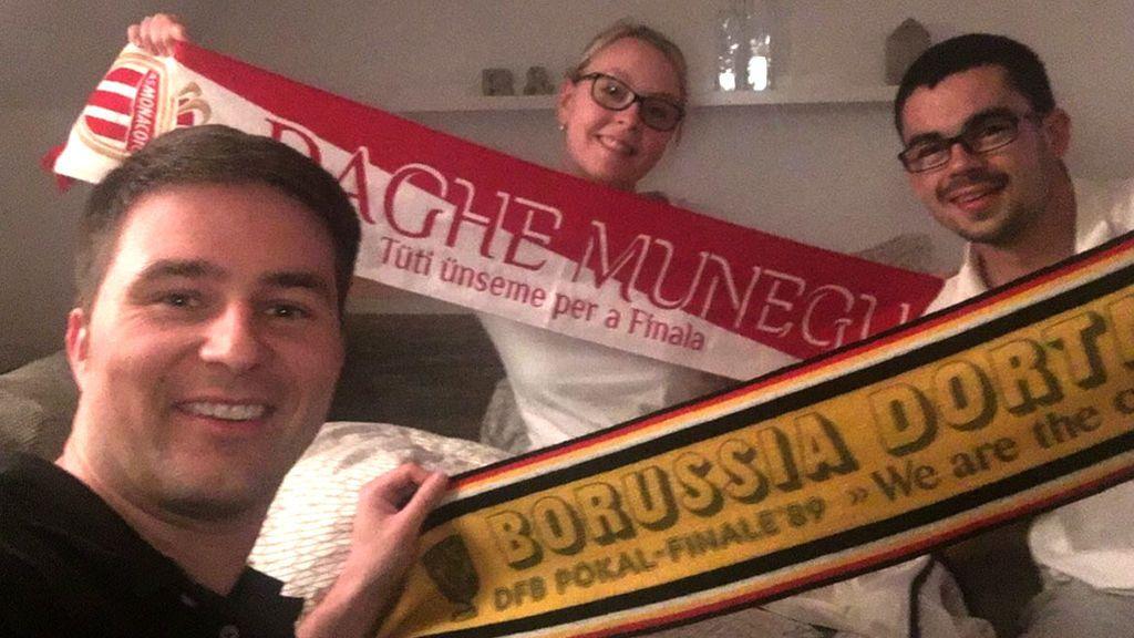 Contra la barbarie, lección de convivencia: hinchas del Borussia acogieron a los del Mónaco en sus casas