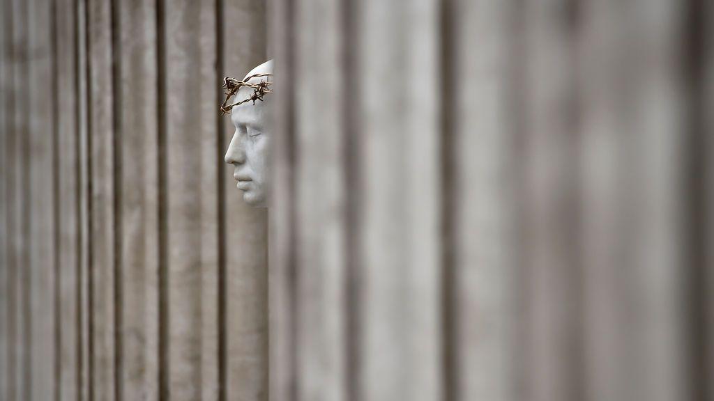 Mark Wallinger, 'Ecce Homo' en la catedral de san Pablo, de Londres