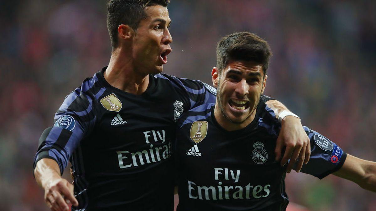 Dybala y Theo Hernández celebran la victoria del Madrid en Múnich
