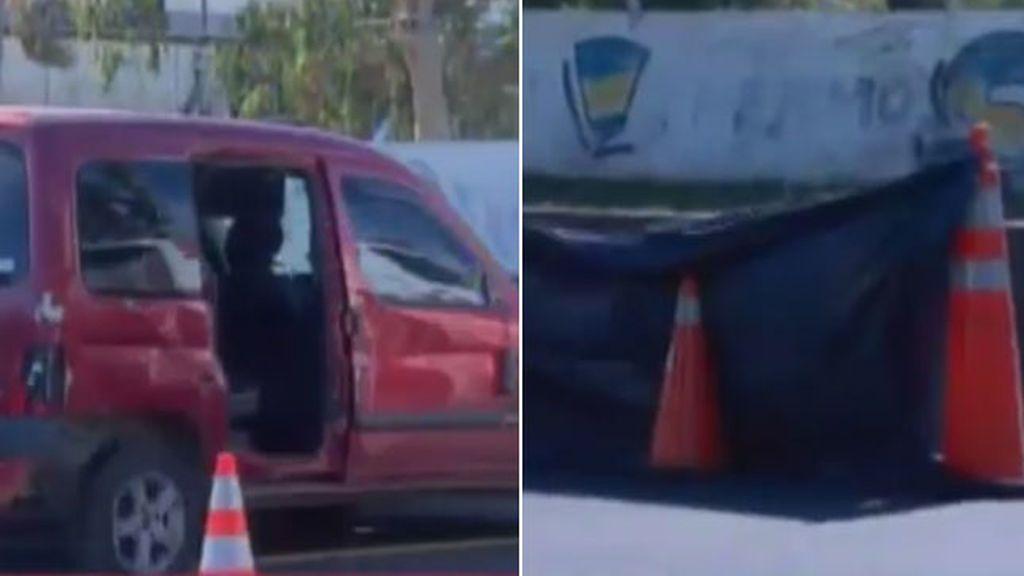Una embarazada choca en la autopista, sale corriendo del coche y muere atropellada
