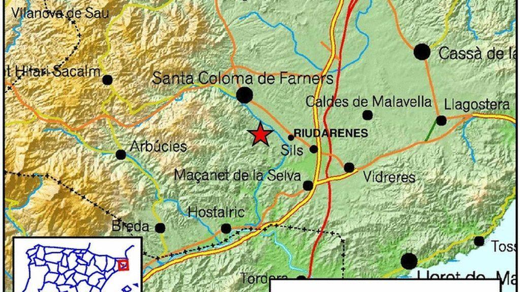 """Gerona registra un seísmo de magnitud 3,8 """"ampliamente percibido"""" pero sin daños"""