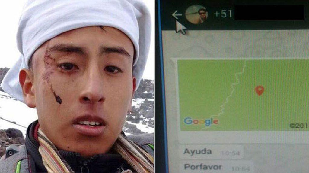 Rescatado un joven accidentado en la montaña gracias a sus mensajes de WhatsApp