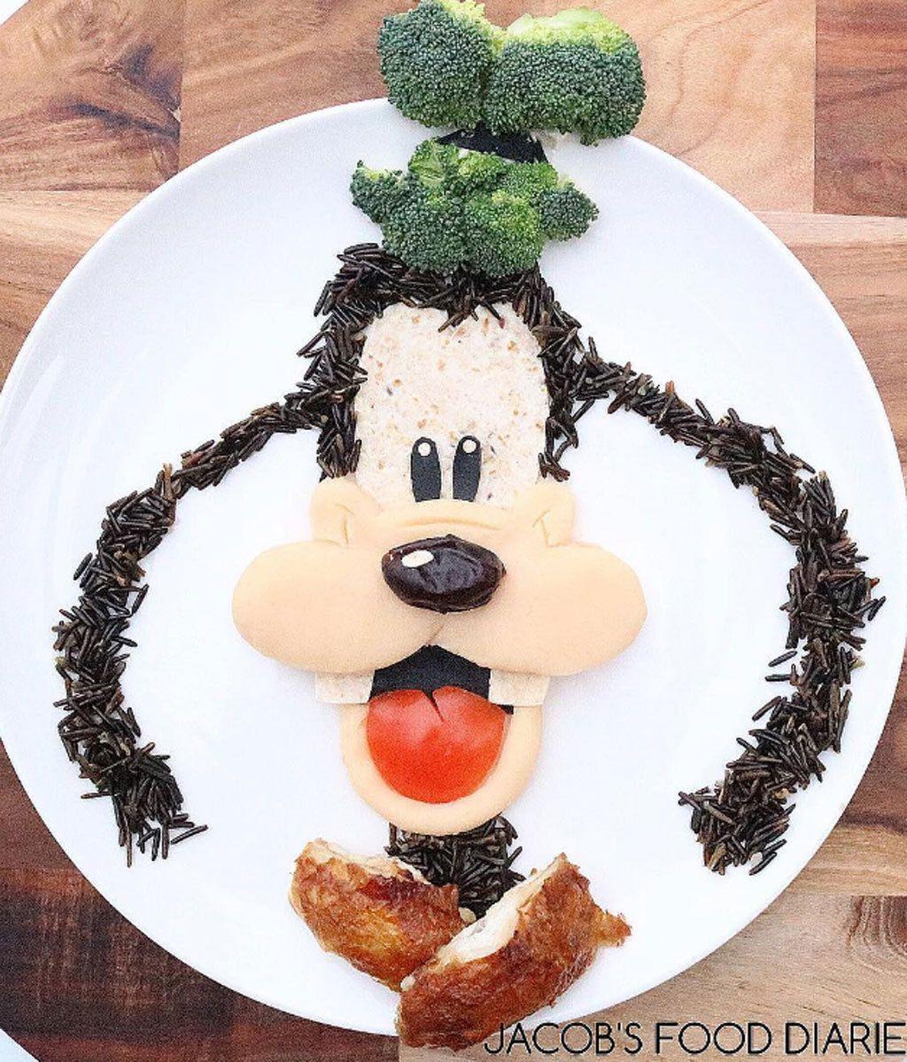 Quiso cocinar atractivos platos para su hijo y se lió, se lió...