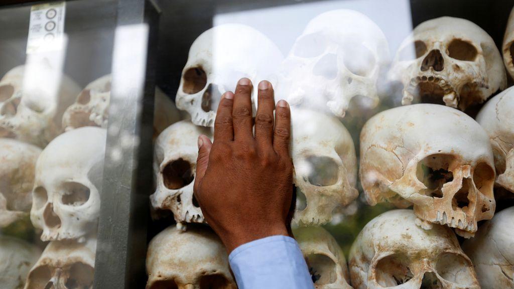 Víctimas de los Jeremos rojos en Camboya