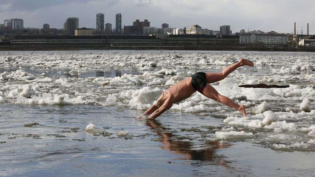 Río Yenisei en Rusia