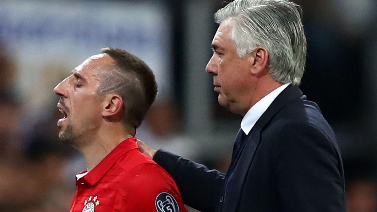 ¡Saltan chispas! Ribery se coge un cabreo monumental y pide a gritos a Ancelotti que lo cambie