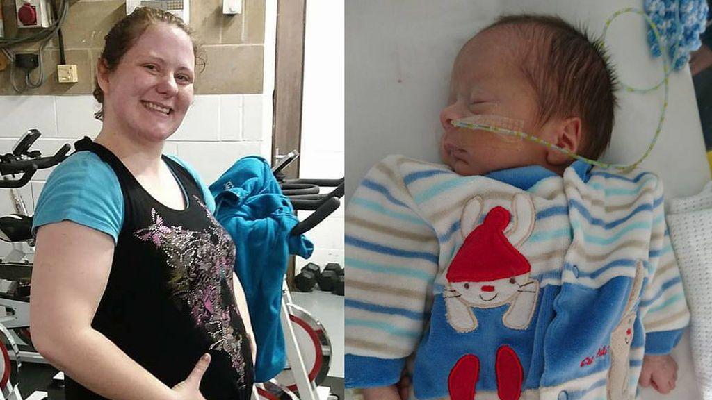 Una mujer descubre que está embarazada después de achacar el tamaño de su tripa a los gases