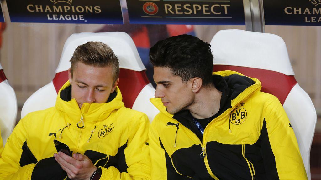 Marc Bartra apoya al Dortmund en Mónaco y da los últimos cinco minutos de charla en el vestuario