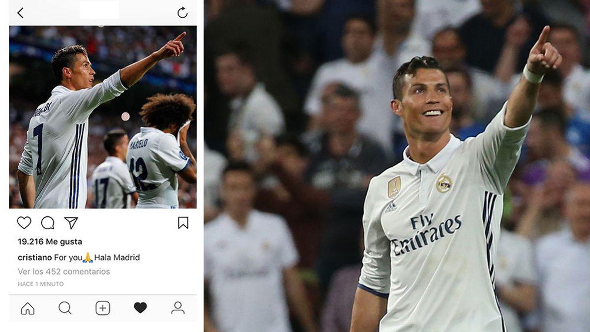 Cristiano pide perdón a la afición del Madrid en Instagram y le dedica el hattrick de Champions 🙏