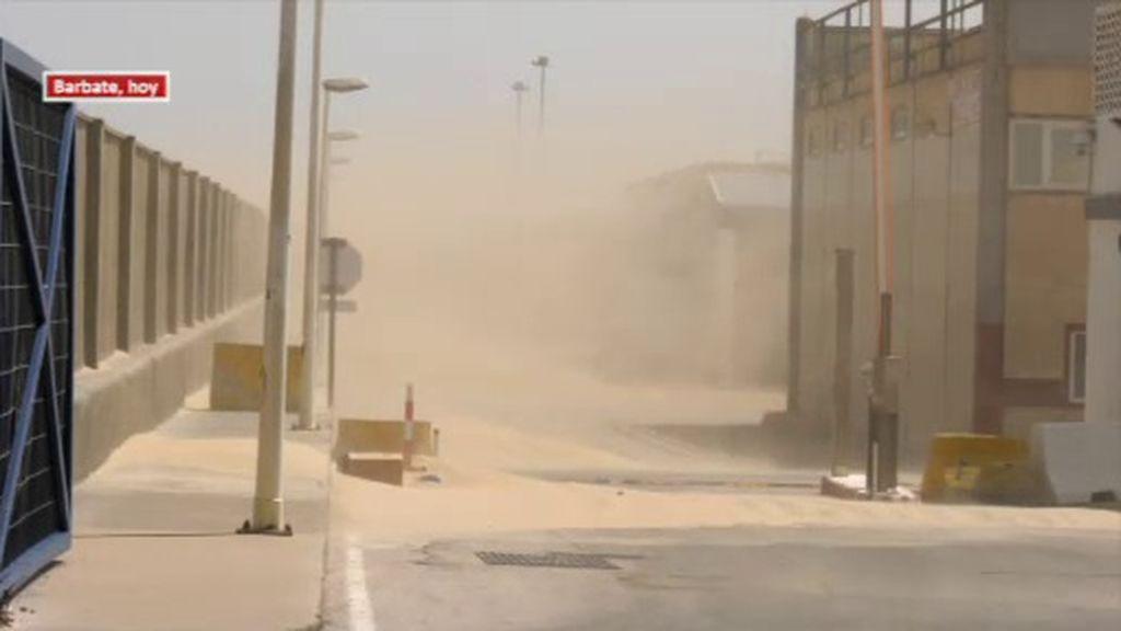El fuerte viento convierte Andalucía en un verdadero desierto de arena