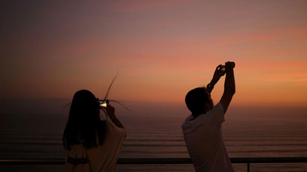 Espectacular puesta de sol en Lima