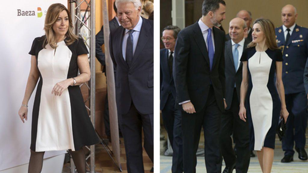 Susana Díaz y la reina Letizia lucen el mismo vestido