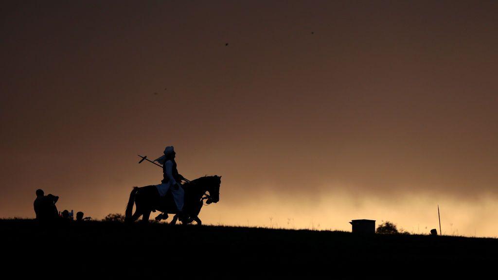 Un jinete a caballo en Islamabad