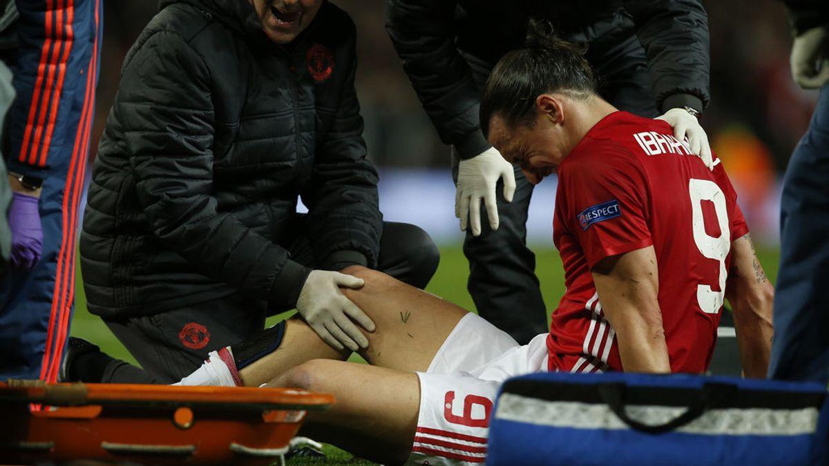 La escalofriante lesión de Ibrahimovic desata el miedo en el Manchester United