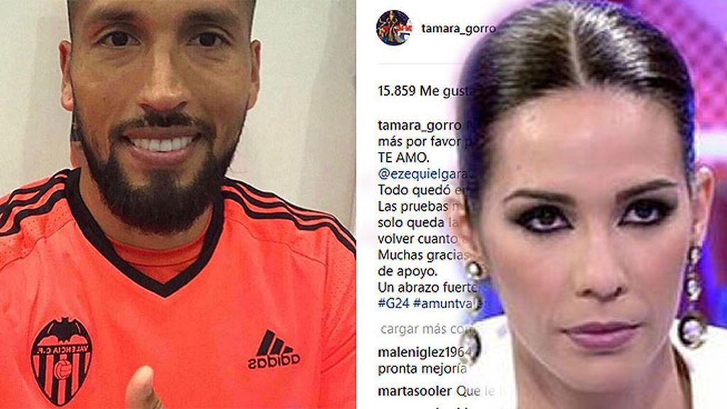 Tamara Gorro, muy conmocionada tras el incidente de su marido Ezequiel Garay