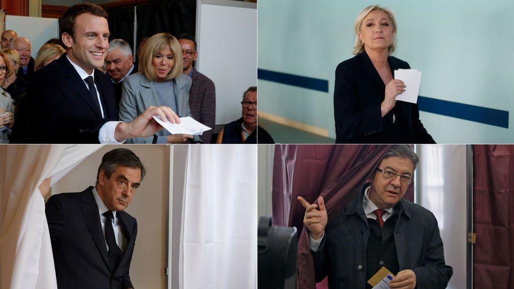 Macron, Le Pen, Fillon, Melenchon. Elecciones en Francia