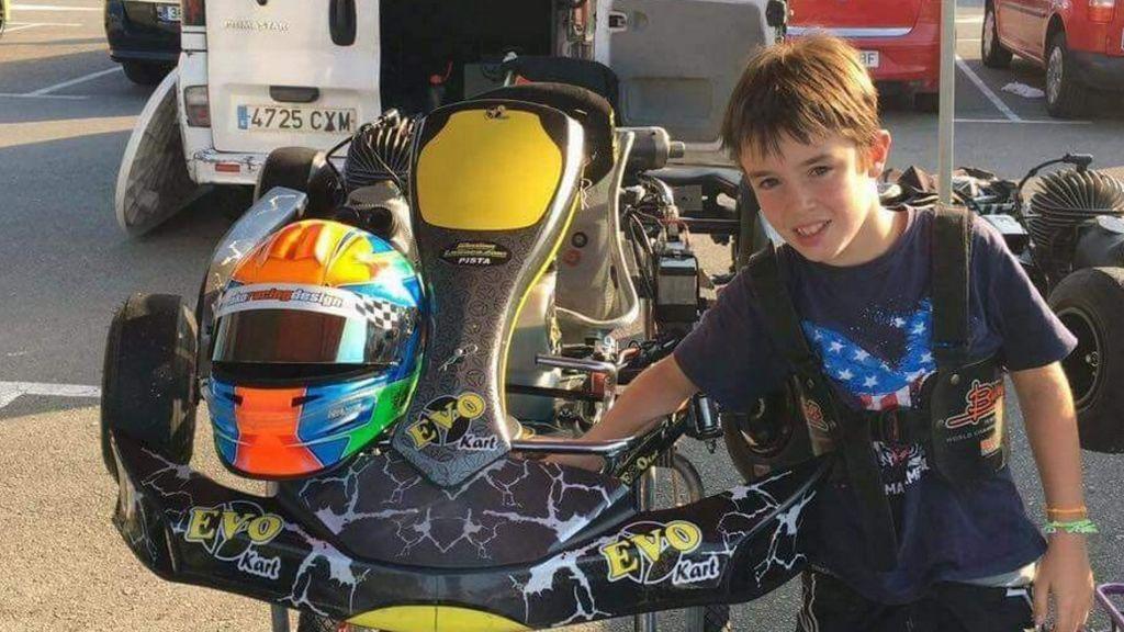 El mundo del motor se vuelca con los homenajes a Gonzalo Basurto, el niño de 11 años fallecido en Asturias durante un entrenamiento de 'karts'