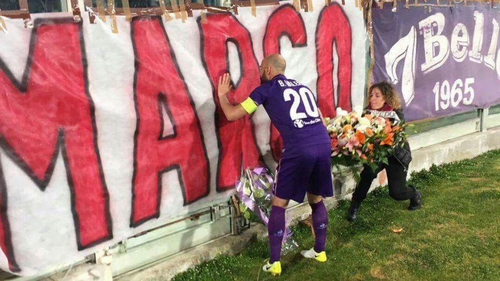 La emotiva dedicatoria de Borja Valero a Marco, el aficionado de la Fiore fallecido accidentalmente en una pelea de ultras entre Benfica y Sporting de Lisboa
