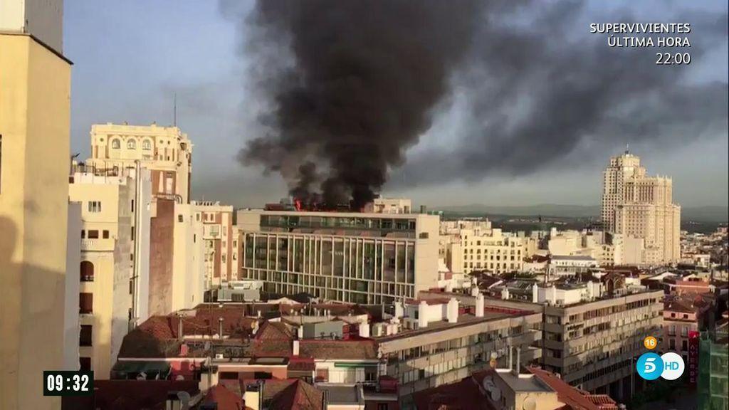 Incendio en la Gran Vía madrileña