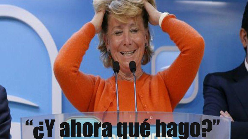 Nos imaginamos los futuros trabajos de Esperanza Aguirre