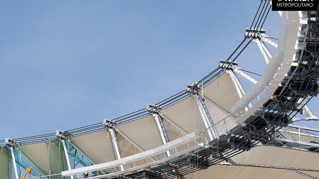 Las gradas del nuevo estadio del Atlético van cogiendo forma: nuevas fotos del Metropolitano