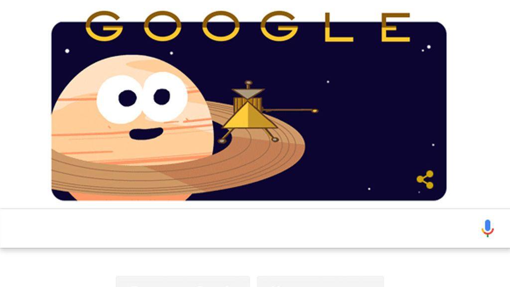 La sonda Cassini llega a Saturno y al doodle de Google