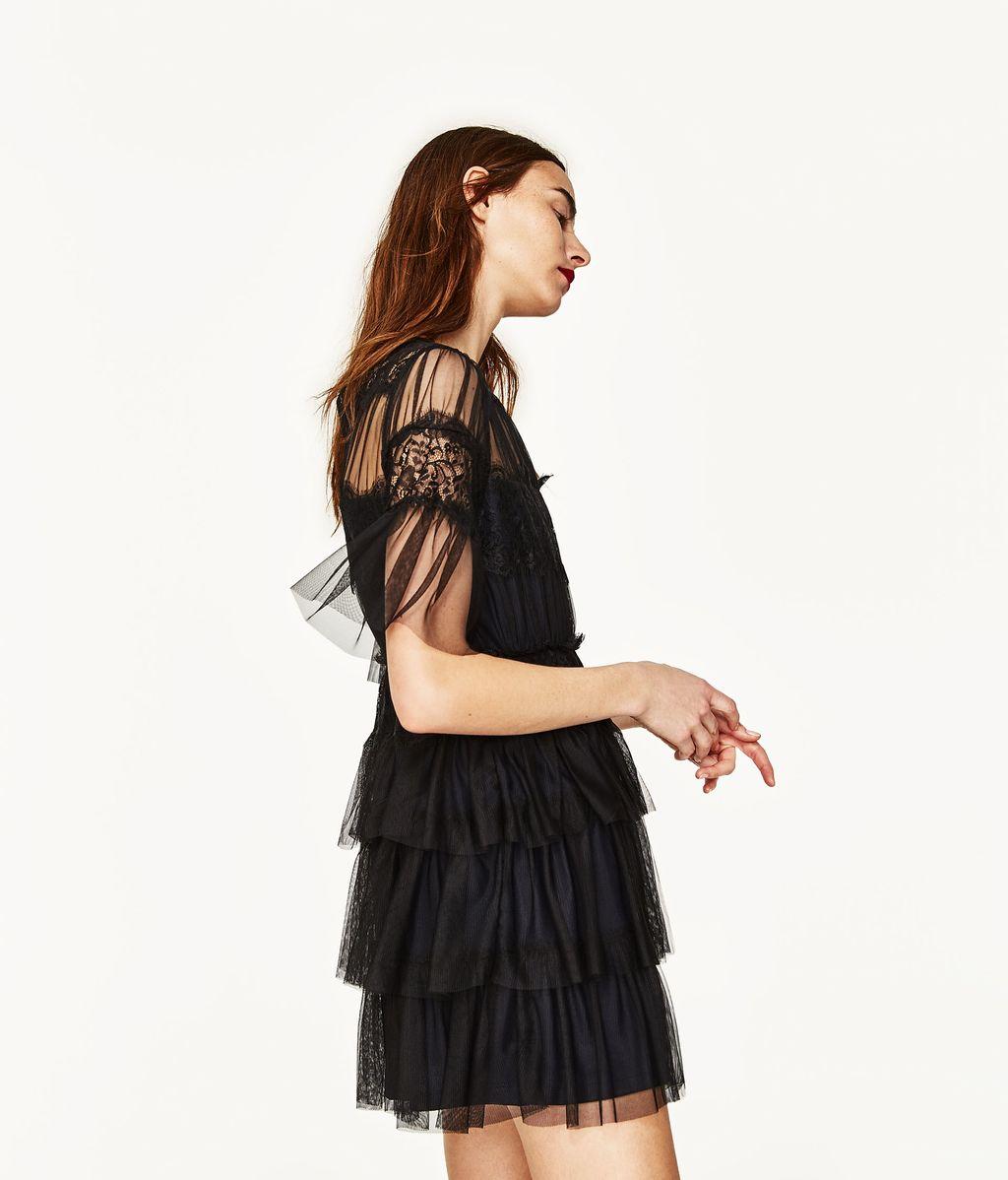 Vestido de tul de Zara