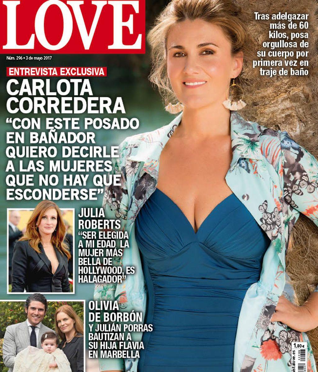 Carlota Corredera posa en bañador para la portada de una conocida revista