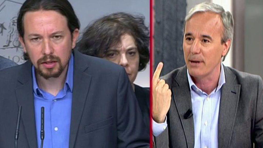 "J. Azcón, de la moción de censura: ""Podemos busca dividir al PSOE"""