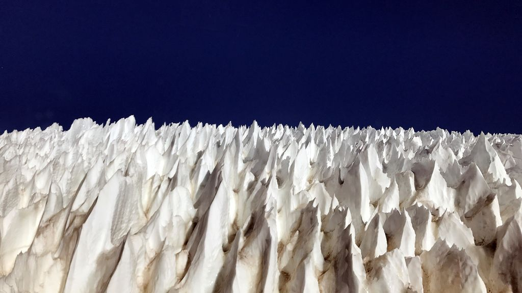 Preciosas formaciones de hielo en Los Andes