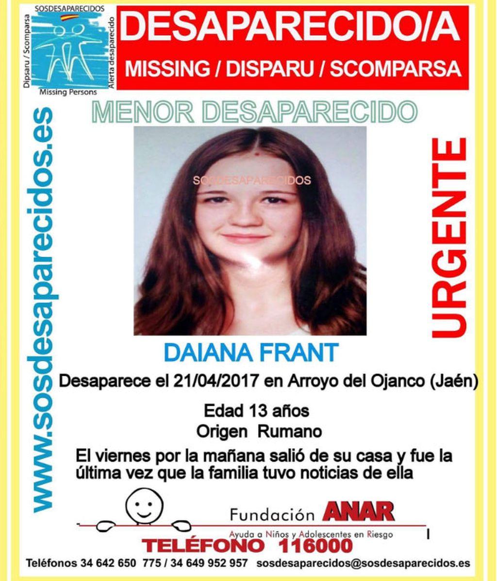 Daiana Frant desaparecida-jaen