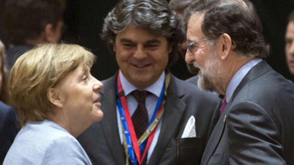 Mariano Rajoy, Angela Merkel,