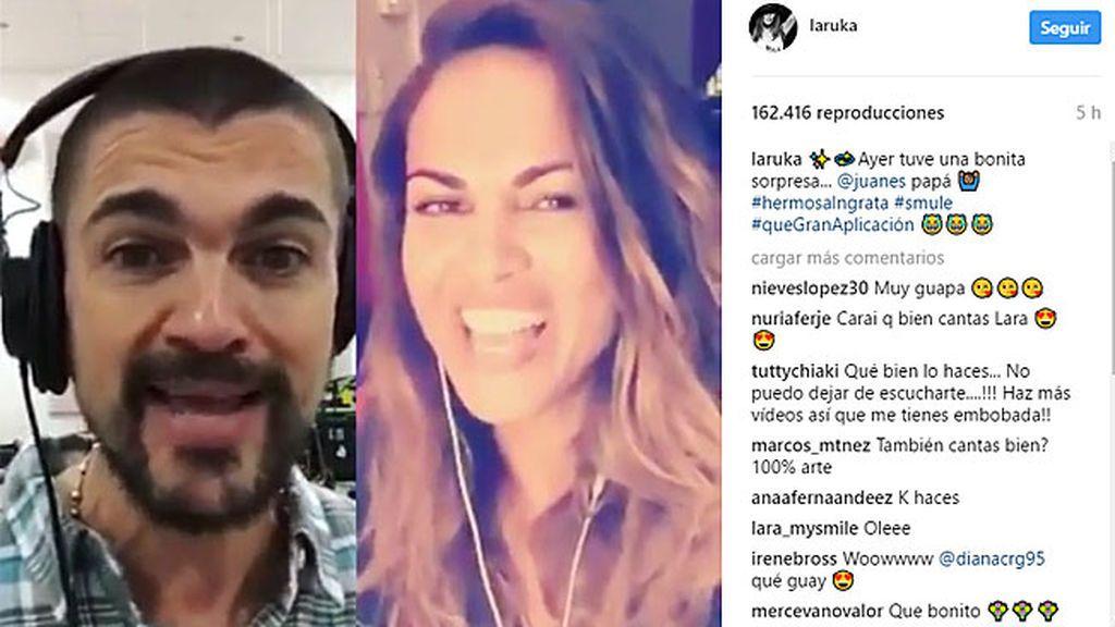 ¡¡Pero qué rollazo!! Lara Álvarez y Juanes cantan a dúo en redes