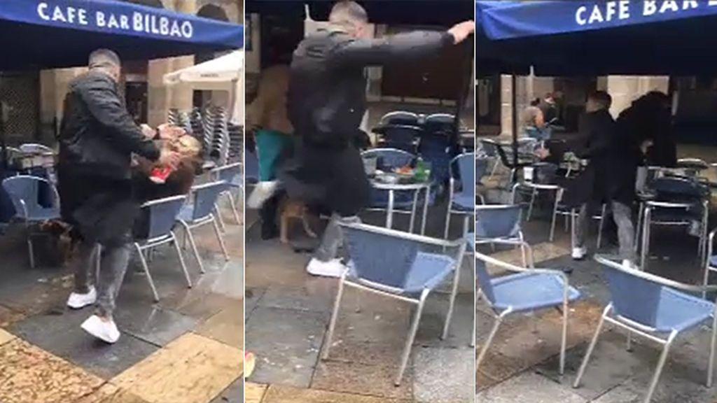 Detenido el presunto autor de la agresión a un hombre en la Plaza Nueva de Bilbao