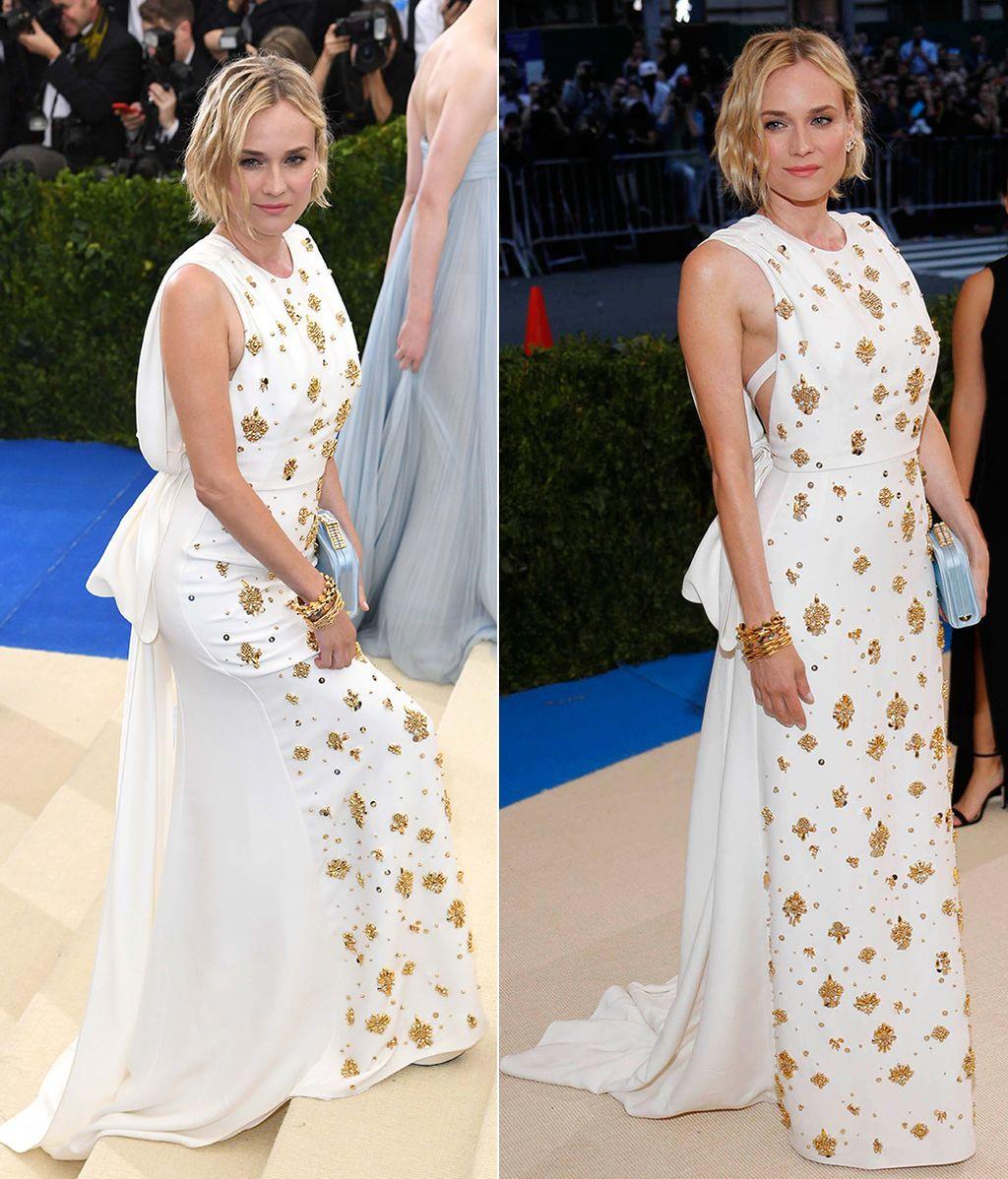 Diane Kruger con nuevo corte de pelo y vestido de Prada