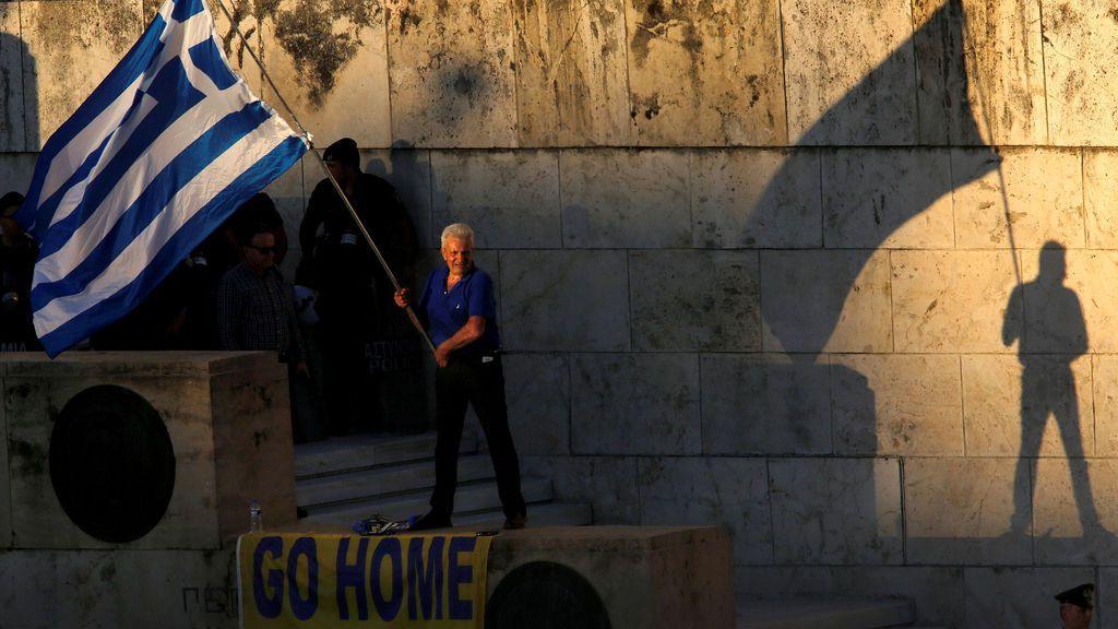 Protesta contra el Gobierno griego