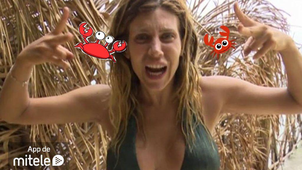 Paola miedo cangrejos
