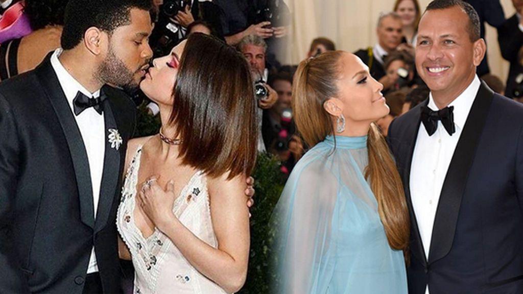 Debut de parejas en la Gala del Met: Selena con The Weeknd y JLo con Rodríguez