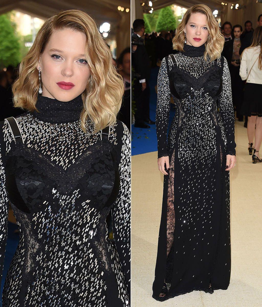 Léa Seydoux con vestido de Louis Vuitton