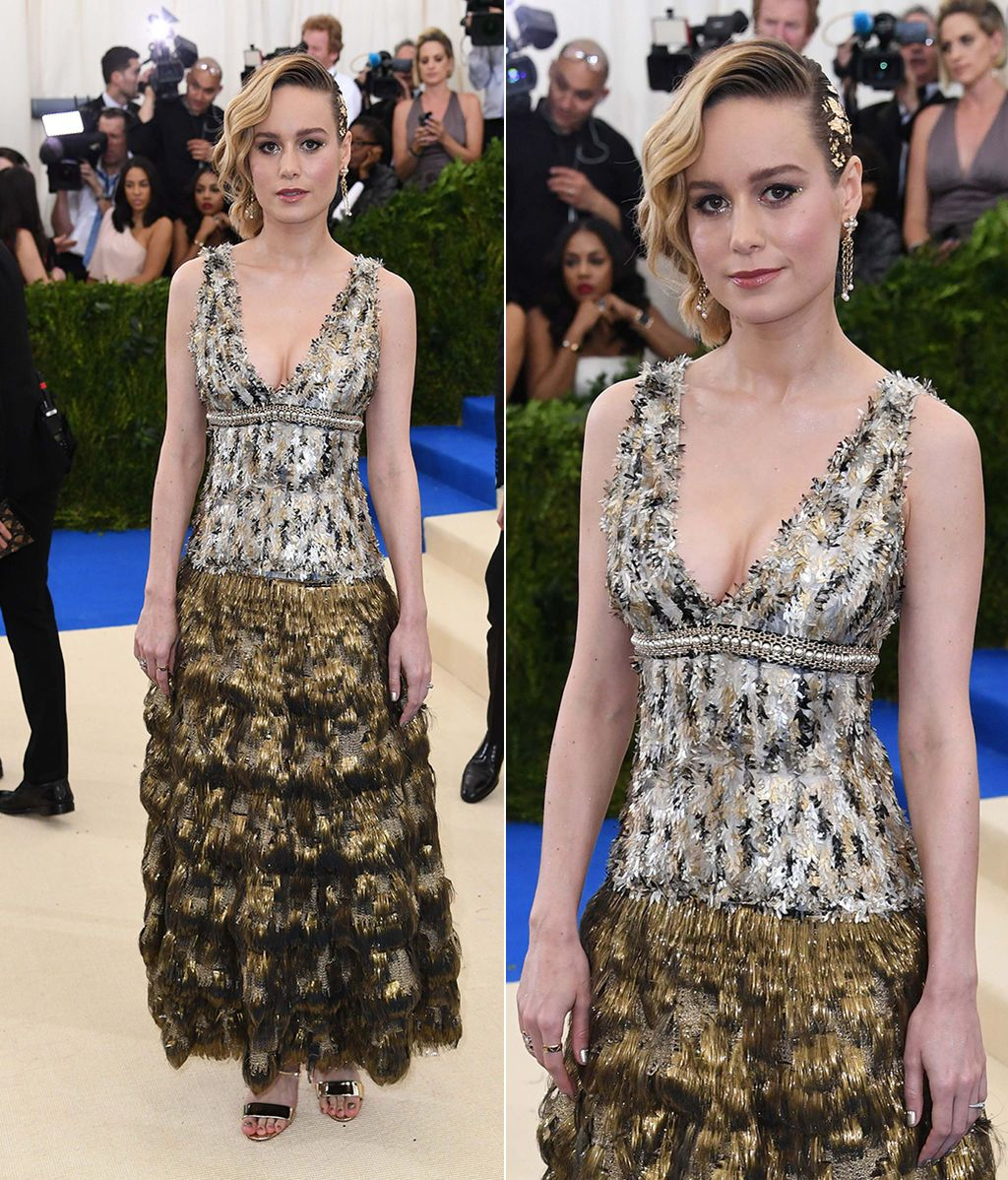 Brie Larson con vestido de Chanel