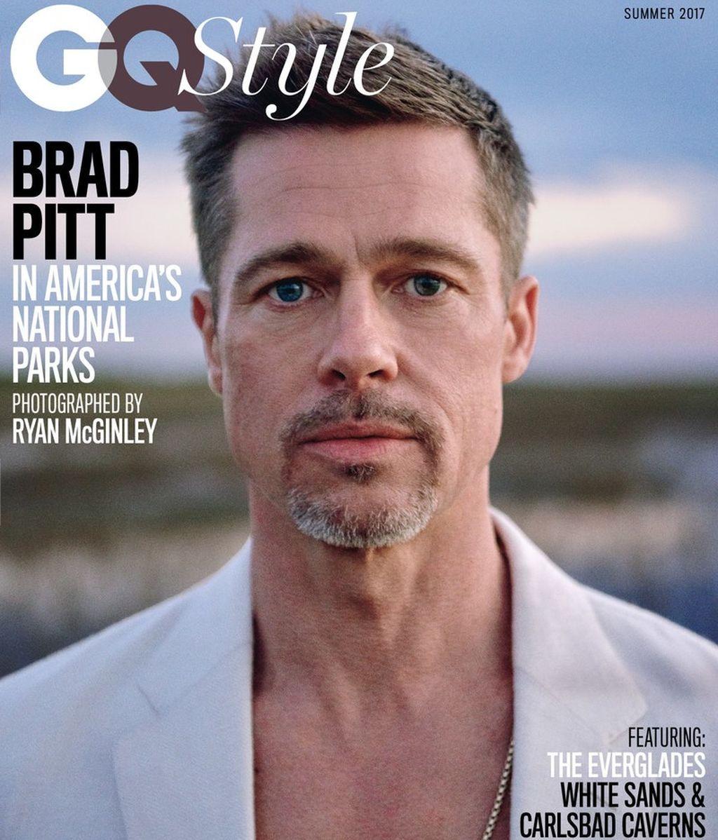 Brad Pitt aparece triste y delgado en la primera portada oficial desde su separación