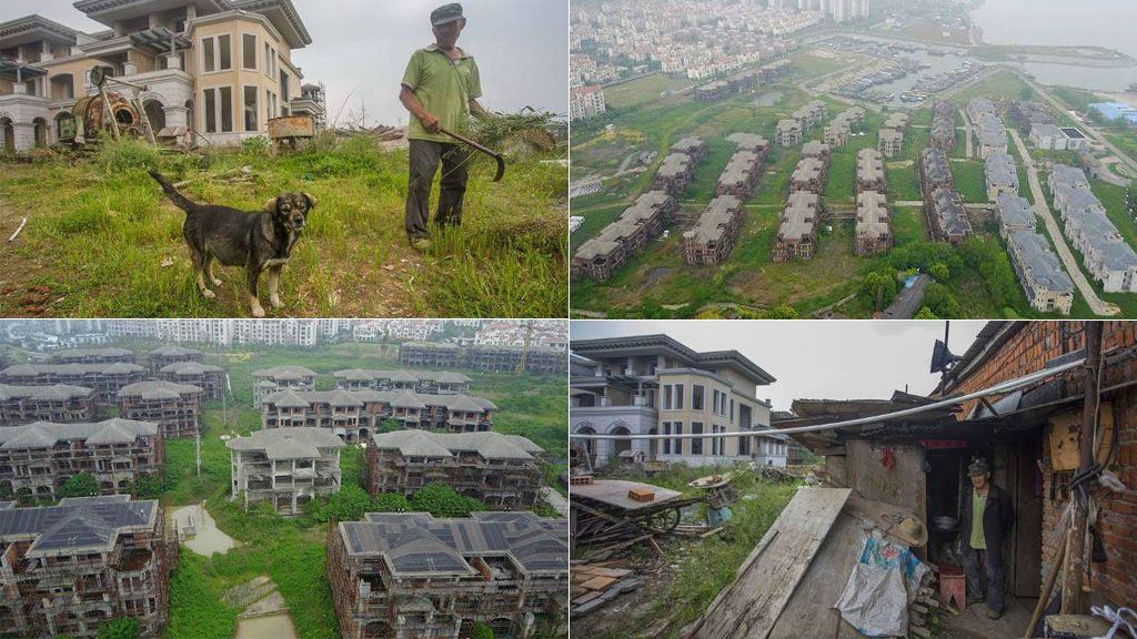 Un hombre y su perro, únicos residentes en una 'ciudad fantasma' de lujo en China
