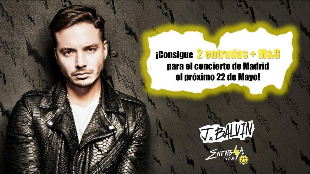 ¿Te gustaría conseguir 2 entradas y M&G para el próximo concierto de J Balvin en Madrid?
