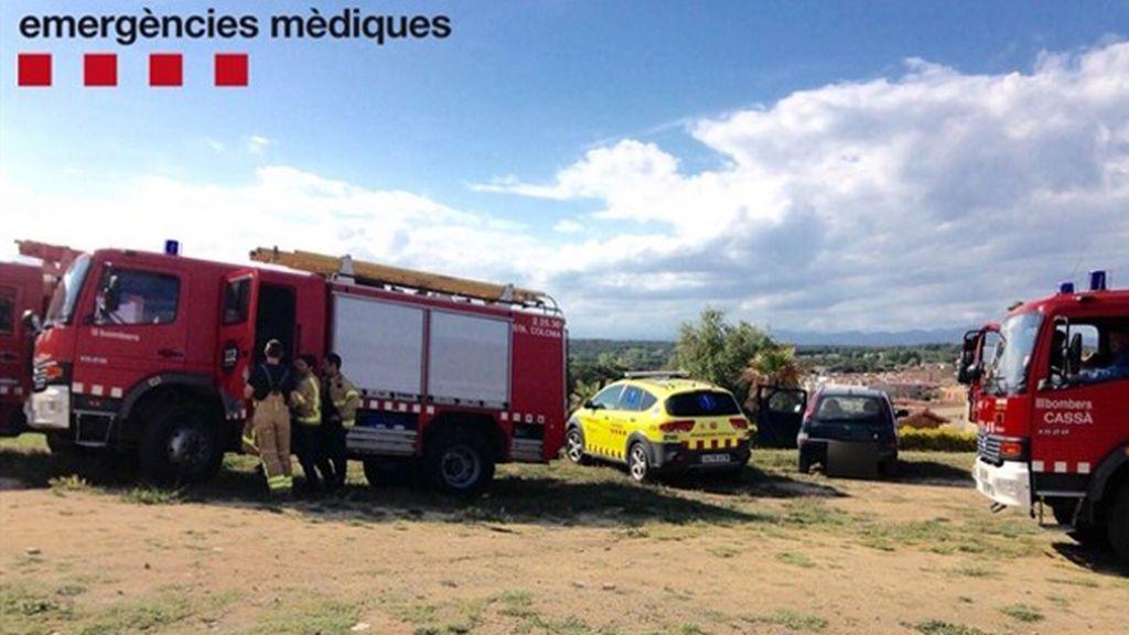Dos niños heridos graves al explotar un castillo hinchable en Girona