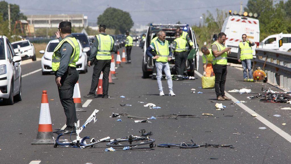 Dos ciclistas mueren al ser arrollados por una conductora ebria en Oliva (Valencia)