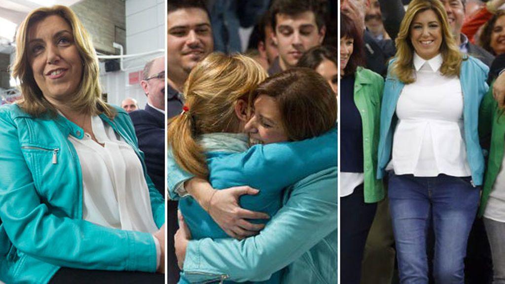 Una perfecto turquesa unida a los avatares políticos de una mujer: la 'chupa' de Susana Díaz