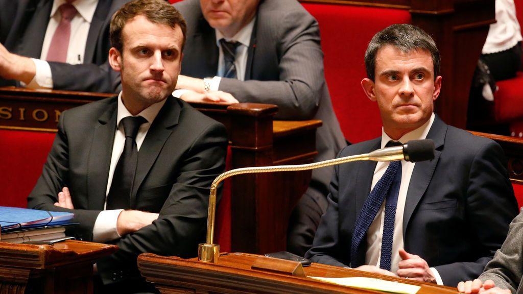 Macron y Valls