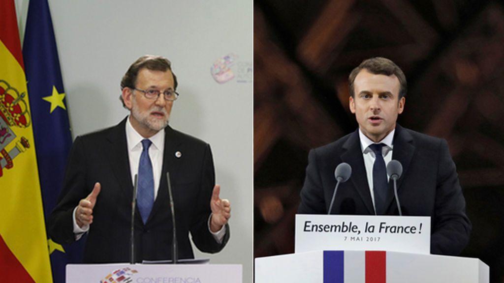 """Rajoy felicita por teléfono a Macron: """"Trabajaremos juntos y nos veremos pronto"""""""