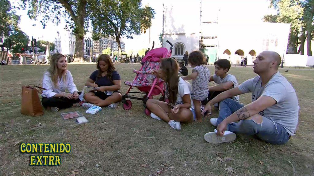 El picnic de las Salazar en pleno Hyde Park de Londres