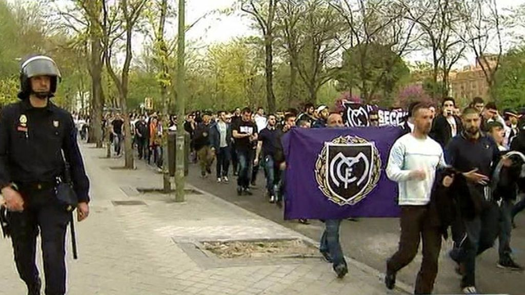 La Delegación del Gobierno prohíbe la 'bajada' andando al Calderón de los seguidores del Real Madrid